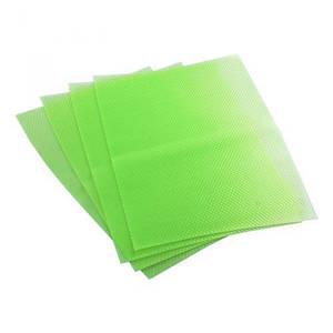 Антибактериальные коврики для холодильника 4 шт., зеленый