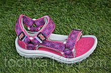 Детские спортивные сандали на девочку фиолетовые р28-33, копия