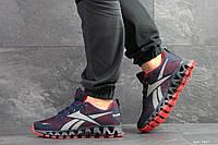 Мужские кроссовки Reebok Zignano,сетка,темно синие с красным, фото 1