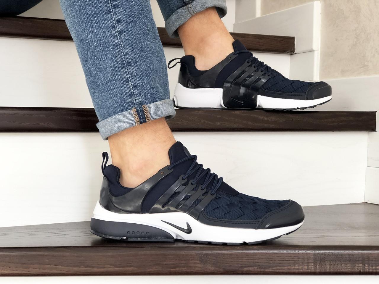 Кроссовки Nike air presto TP QS текстиль,темно синие с белым