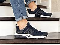 Кроссовки Nike air presto TP QS текстиль,темно синие с белым, фото 1