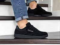 Мужские кроссовки Reebok,замшевые,черные, фото 1