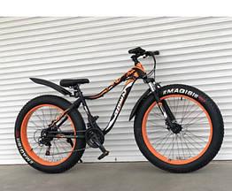 Спортивный велосипед - ФЭТБАЙК (FAT BIKE) TOP RIDER S630 Оранжевый