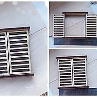 Окно со ставнями деревянное