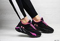 Модные женские кроссовки Adidas x Yeezy Boost 700 Black/Pink (,), фото 1