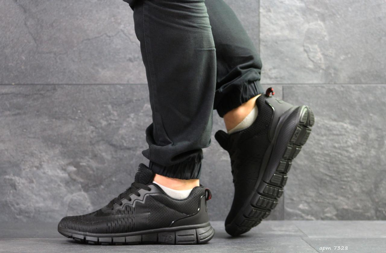 Мужские кроссовки Nike Free Run 7.0,сетка,черные 41р