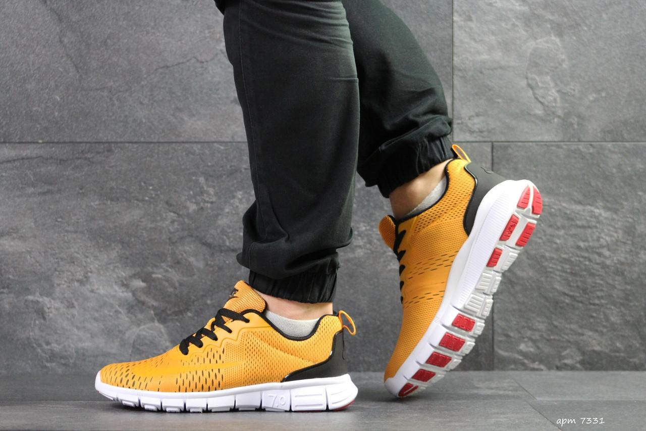 Мужские кроссовки Nike Free Run 7.0,сетка,желтые