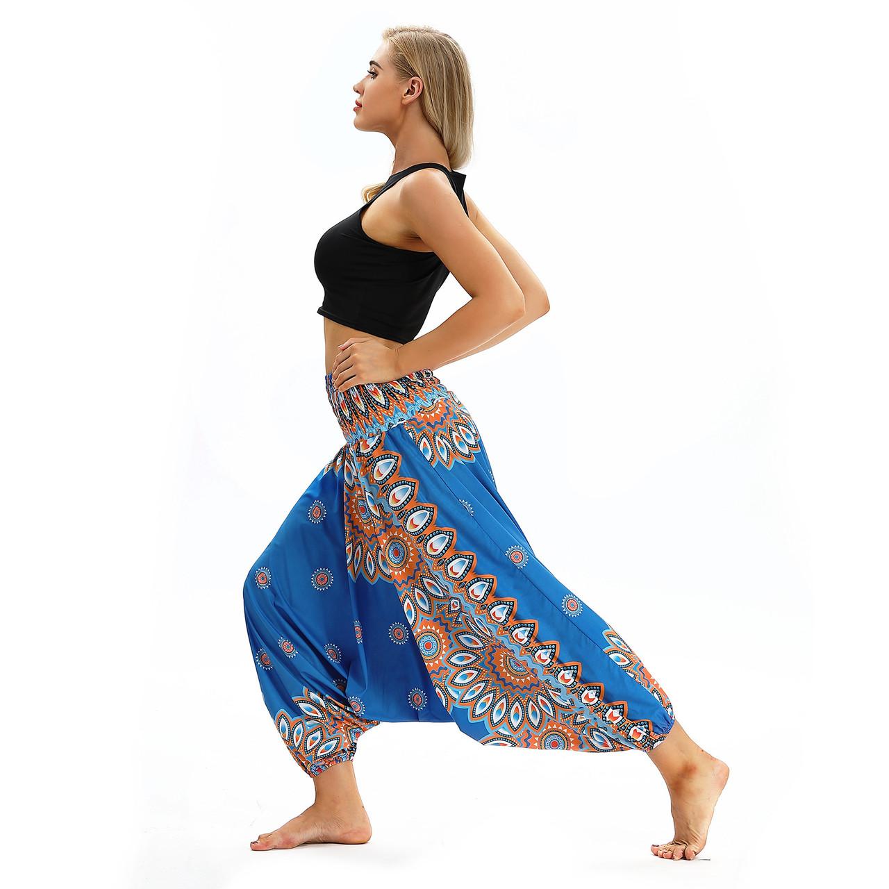 Стильные штаны алладины для йоги