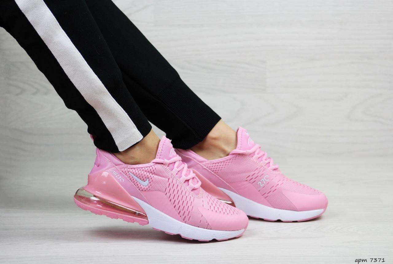 Весенние женские кроссовки Nike Air Max 270,сетка,розовые 41р