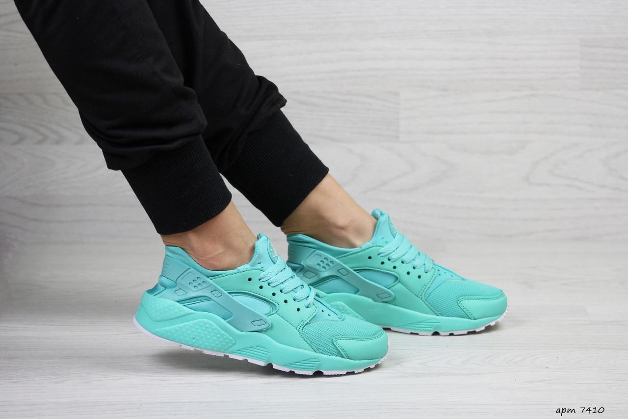 Женские весенние кроссовки Nike Air Huarache,нубук,мятные