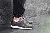 Мужские кроссовки Reebok,кожаные,серые, фото 1