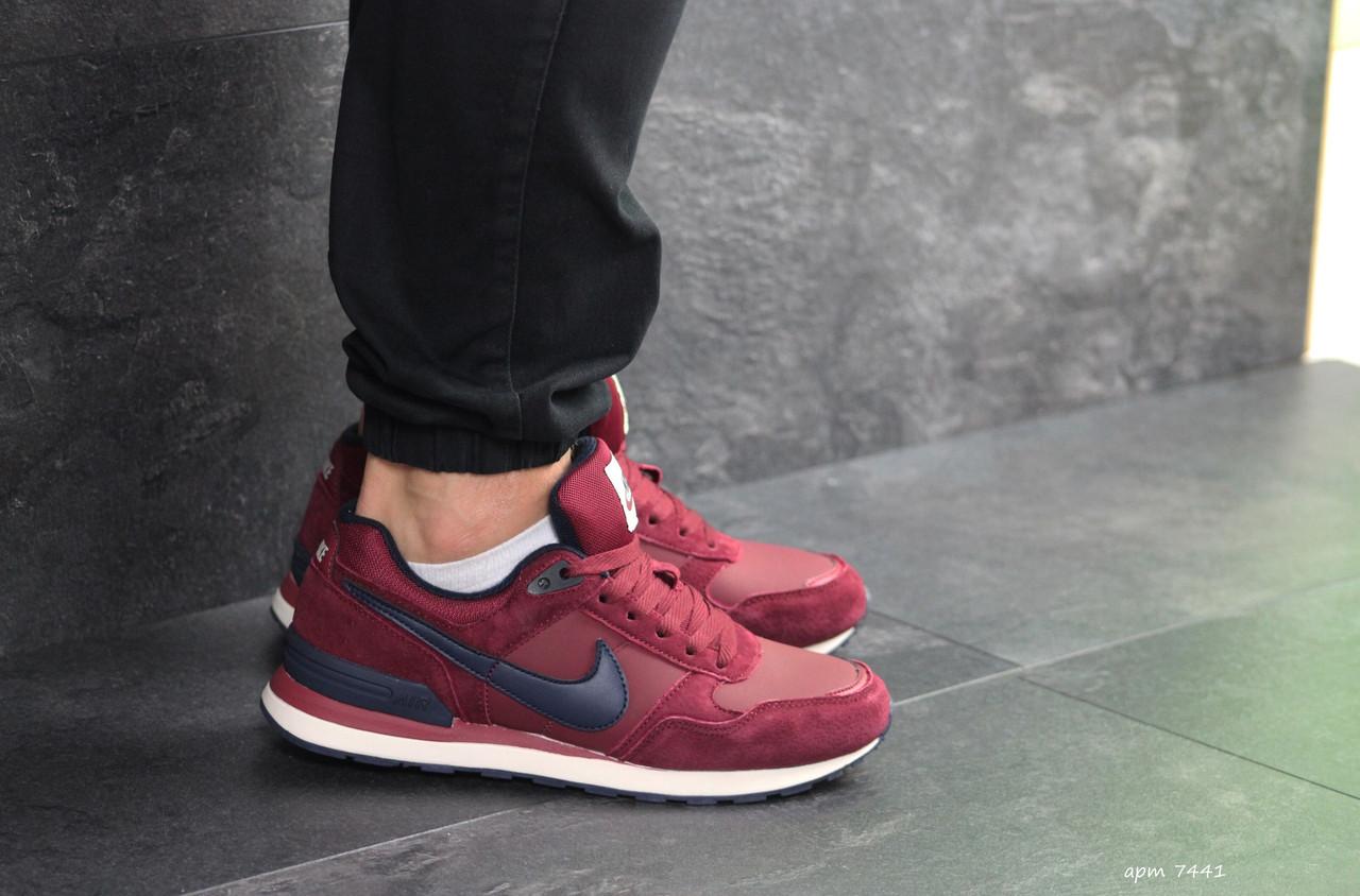 Мужские кроссовки Найк, Nike,бордовые 42,46р