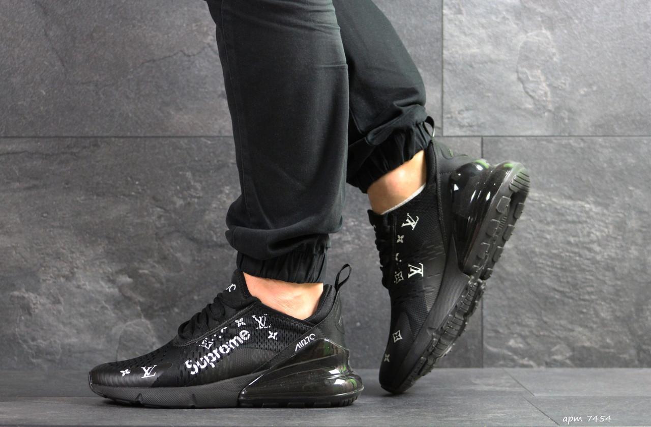 Модные кроссовки Nike air max 270 x Supreme, черные