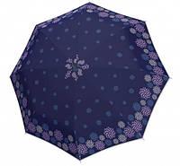 Синий женский зонт  Doppler с цветами  ( полный автомат ), арт. 7441465 2901-1