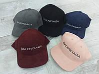 Кепка бейсболка женская с эко замша с стиле Balenciaga