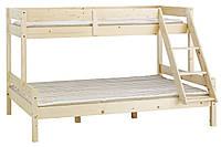 Кровать двухярусная из массива сосны (длина 200 см)