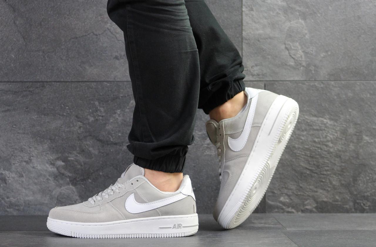 Кроссовки мужские Nike Air Force AF 1,замшевые,серые 44р