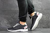 Мужские кроссовки Reebok Sublite,кожаные,темно синие, фото 1