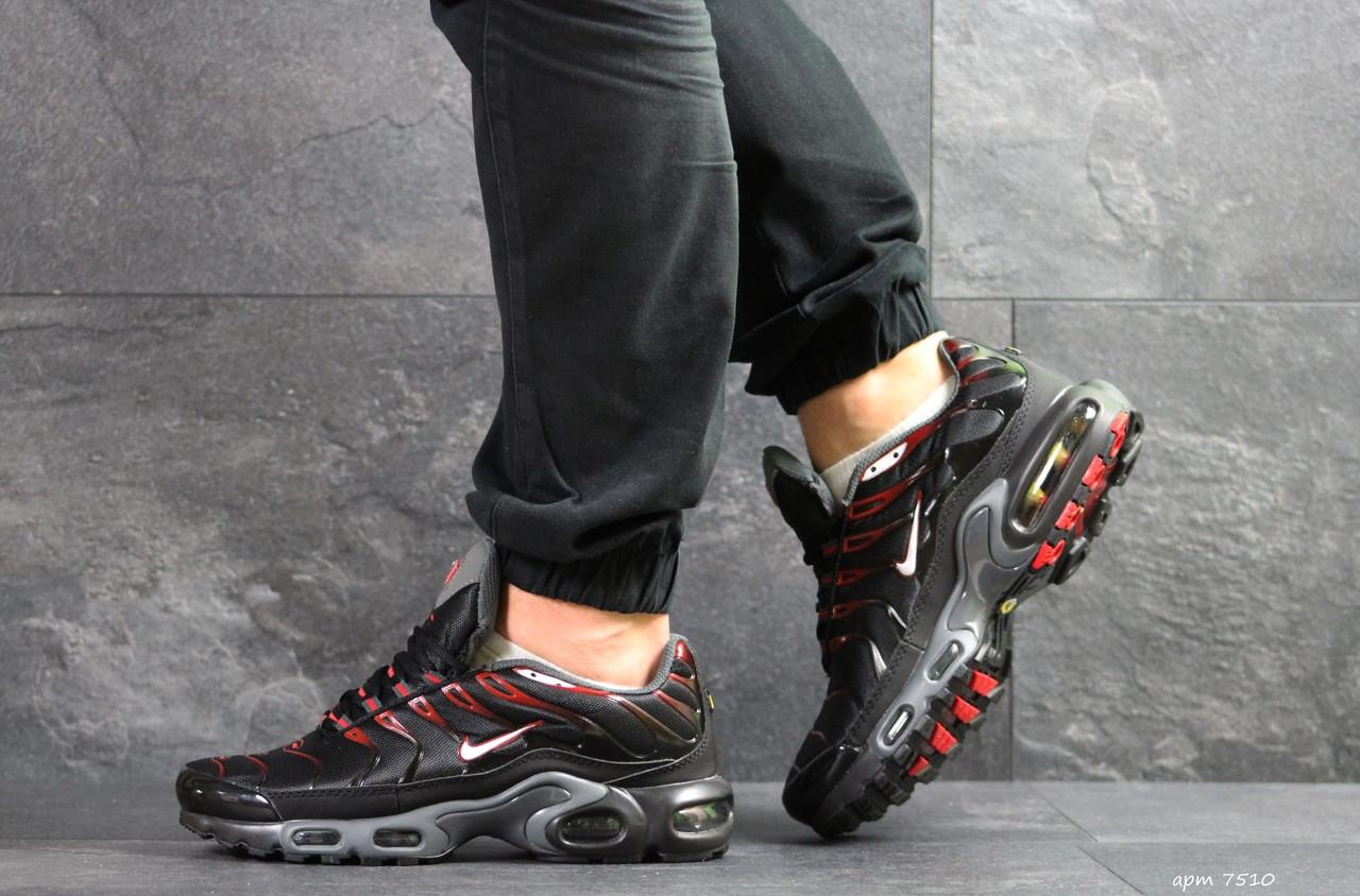 Кроссовки мужские Nike air max TN, черные с красным