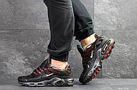 Кроссовки мужские Nike air max TN, черные с красным, фото 1