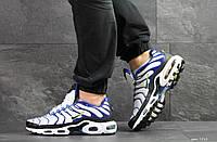 Кроссовки мужские Nike air max TN, белые с синим, фото 1