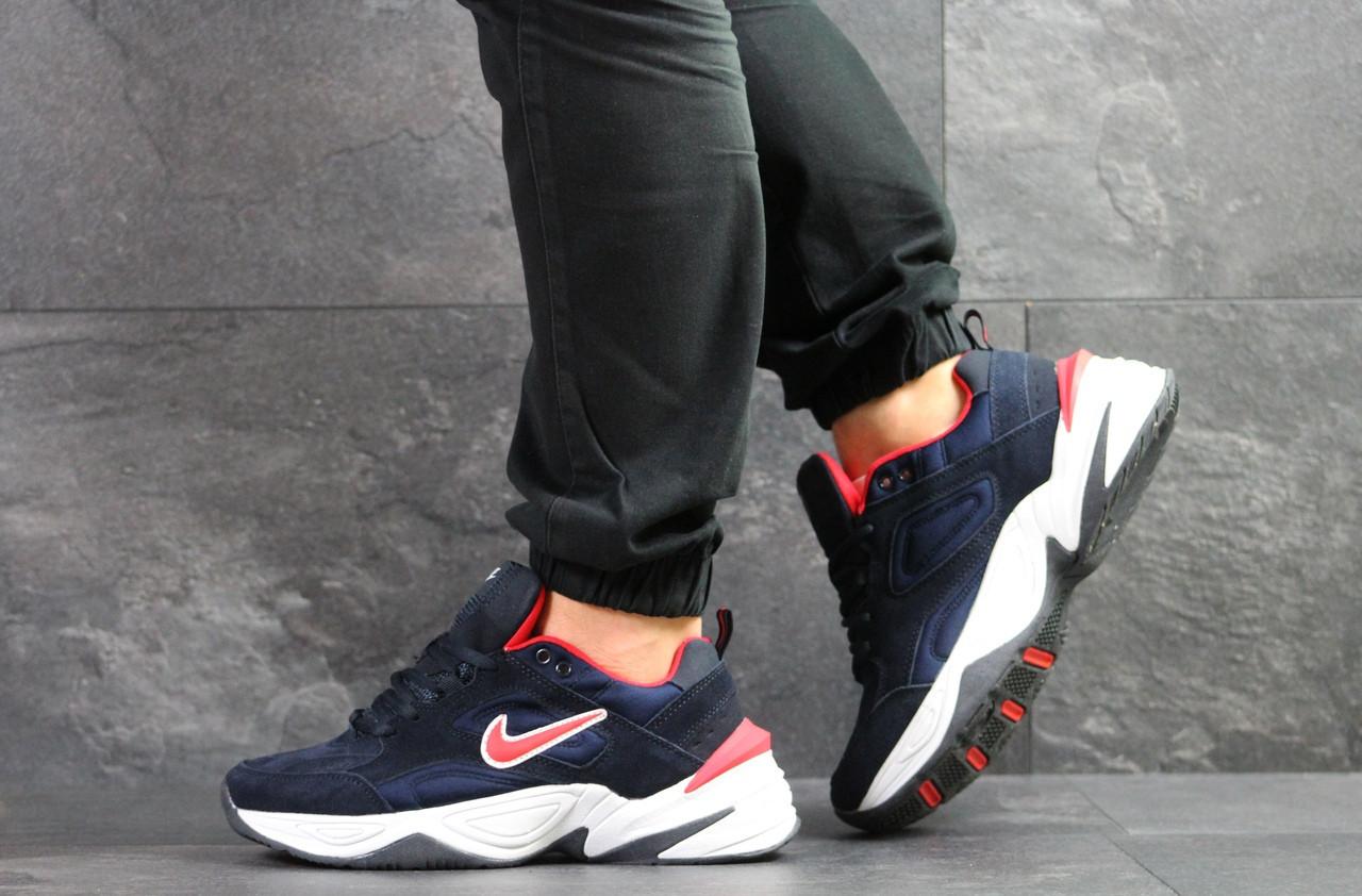 Мужские кроссовки Nike M2K Tekno,замшевые,темно синие