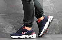 Мужские кроссовки Nike M2K Tekno,замшевые,темно синие, фото 1