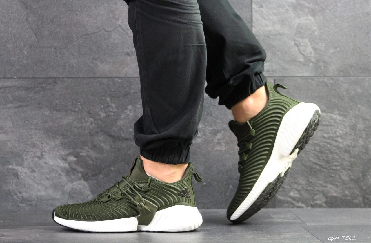Мужские кроссовки Adidas Alphabounce Instinct,текстиль,зеленые