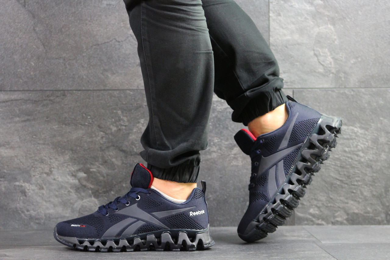 Мужские кроссовки Reebok Zignano,сетка,темно синие