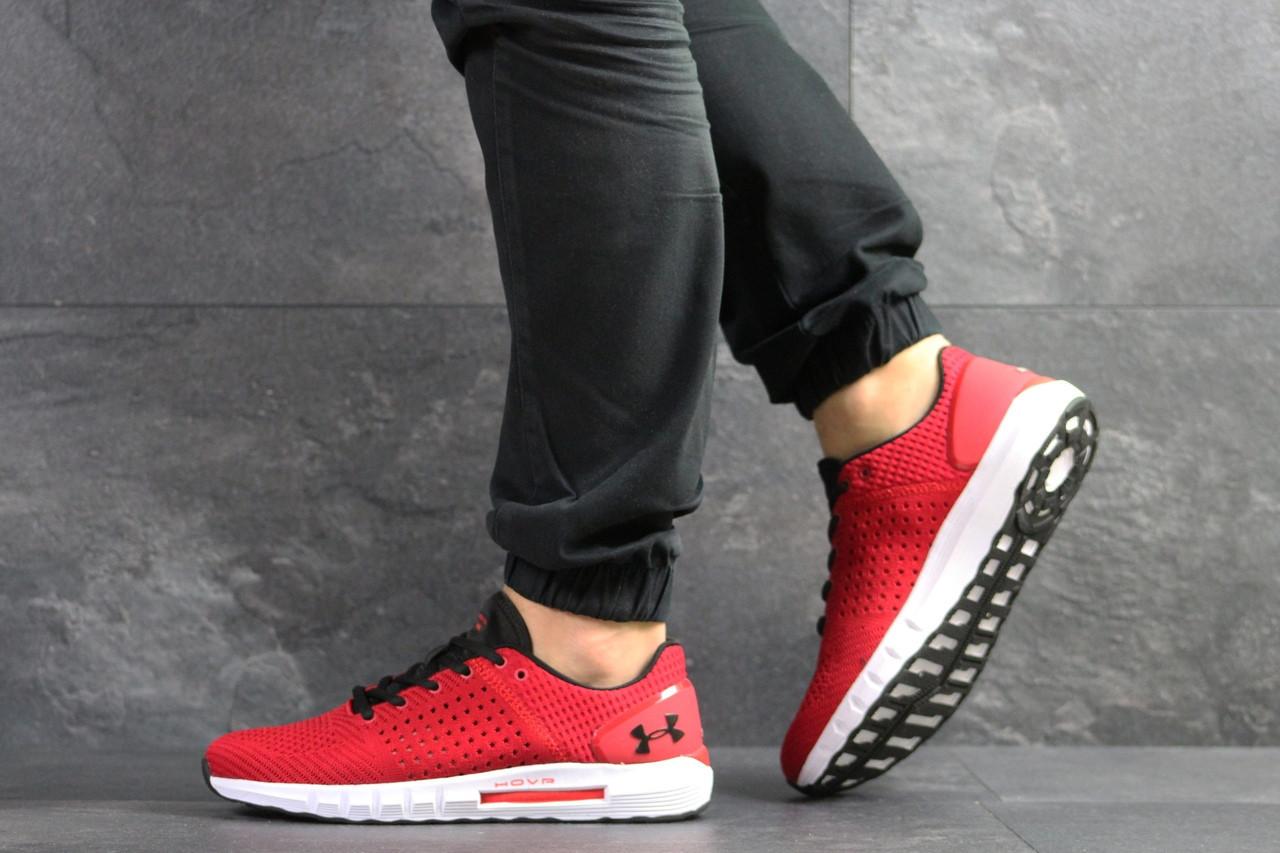 Летние мужские кроссовки Under Armour Hovr,сетка,красные 43р