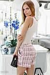 Деловые шорты букле розовые, фото 2