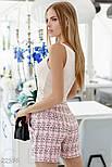 Деловые шорты букле розовые, фото 3