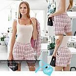 Деловые шорты букле розовые, фото 5