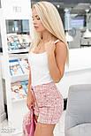 Ділові шорти букле яскраво-рожеві, фото 2