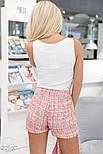 Ділові шорти букле яскраво-рожеві, фото 3