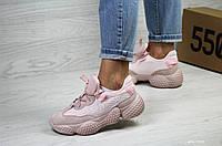 Кроссовки женские Adidas SPIY-550,пудра,сетка, фото 1