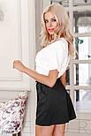 Деловые шорты-юбка черные, фото 2