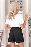Деловые шорты-юбка черные, фото 3