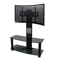 ТВ-тумба из стекла с кронштейном Смарт 900LT Bl (880/900х345х1250) с доставкой по Украине. Мебель из стекла