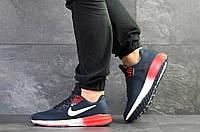 Летние мужские кроссовки Nike Air Zoom Structure 21,темно синие с красным, фото 1