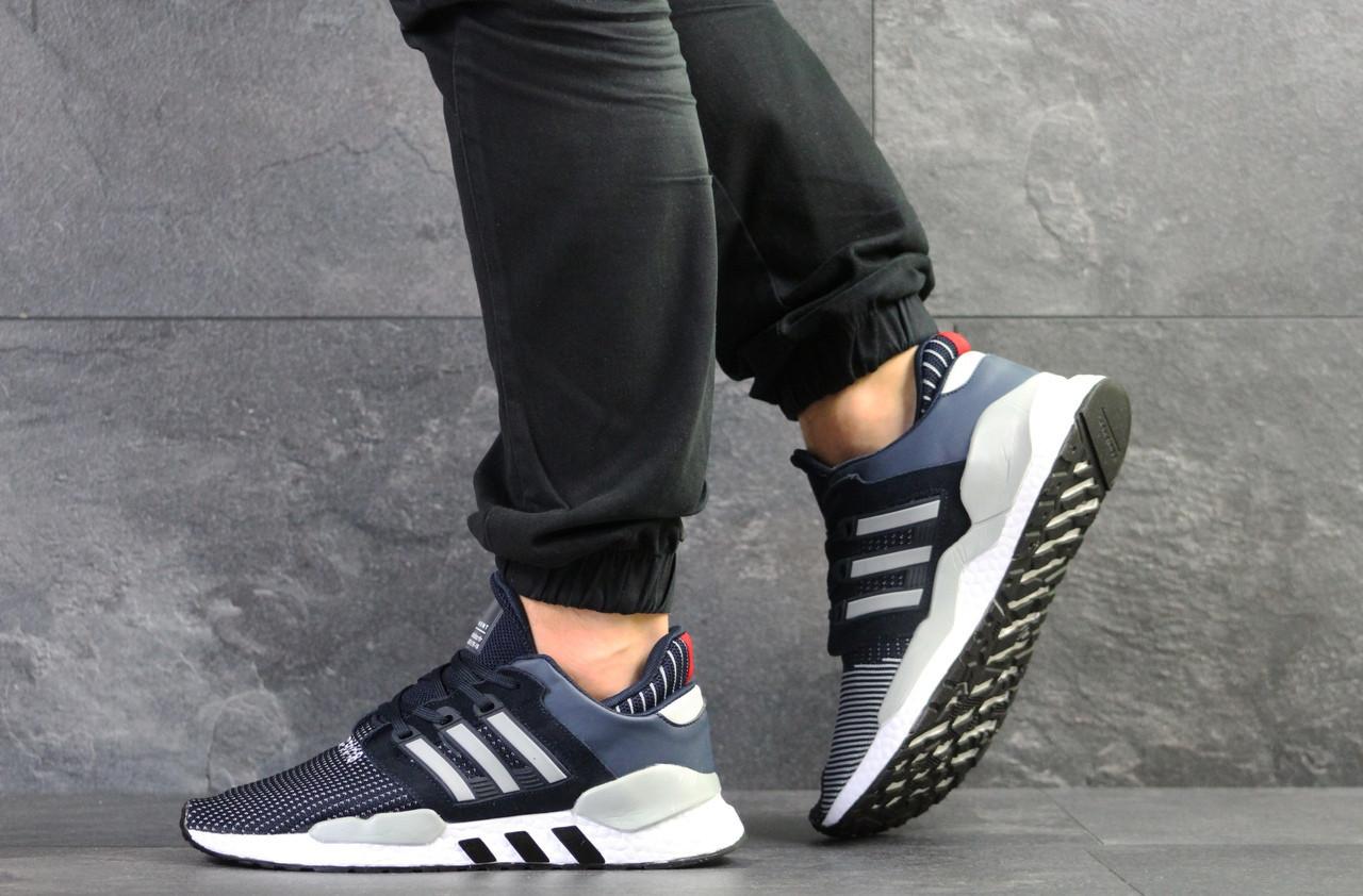 Летние мужские кроссовки Adidas Equipment adv 91/18,сетка,темно синие 43р