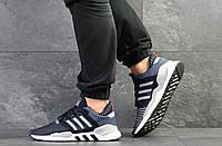 Летние мужские кроссовки Adidas Equipment adv 91/18,сетка,темно синие 43р, фото 1