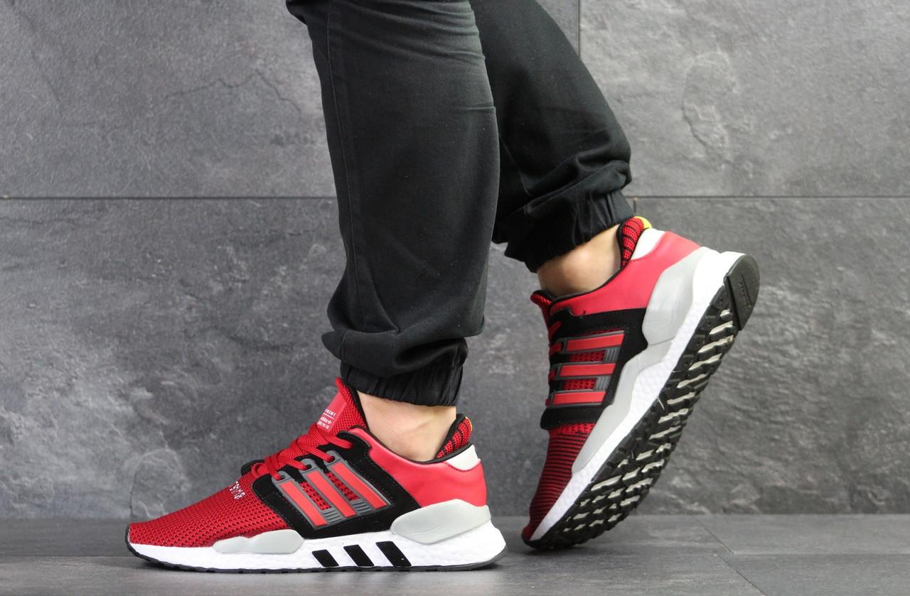 Летние мужские кроссовки Adidas Equipment adv 91/18,сетка, красные 44р