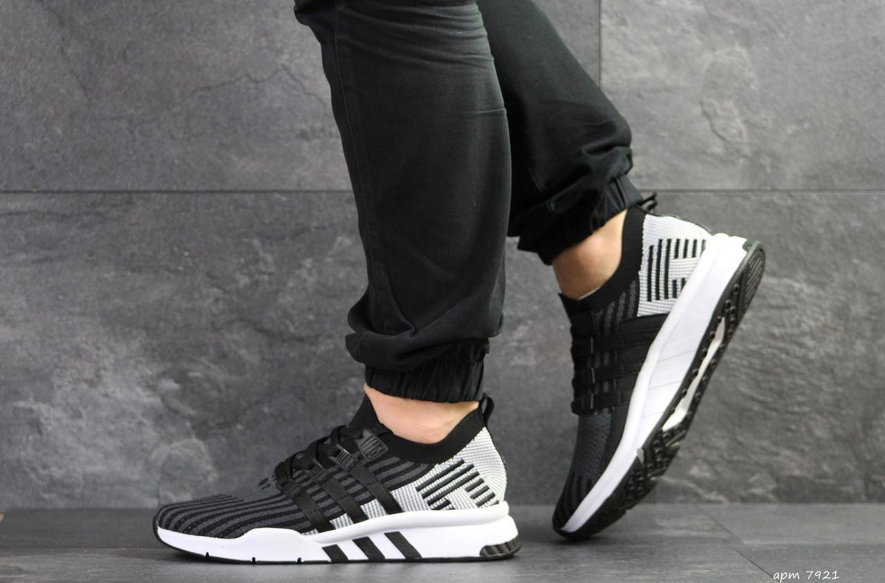 Кроссовки мужские Adidas Equipment adv 91/18,черные с серым
