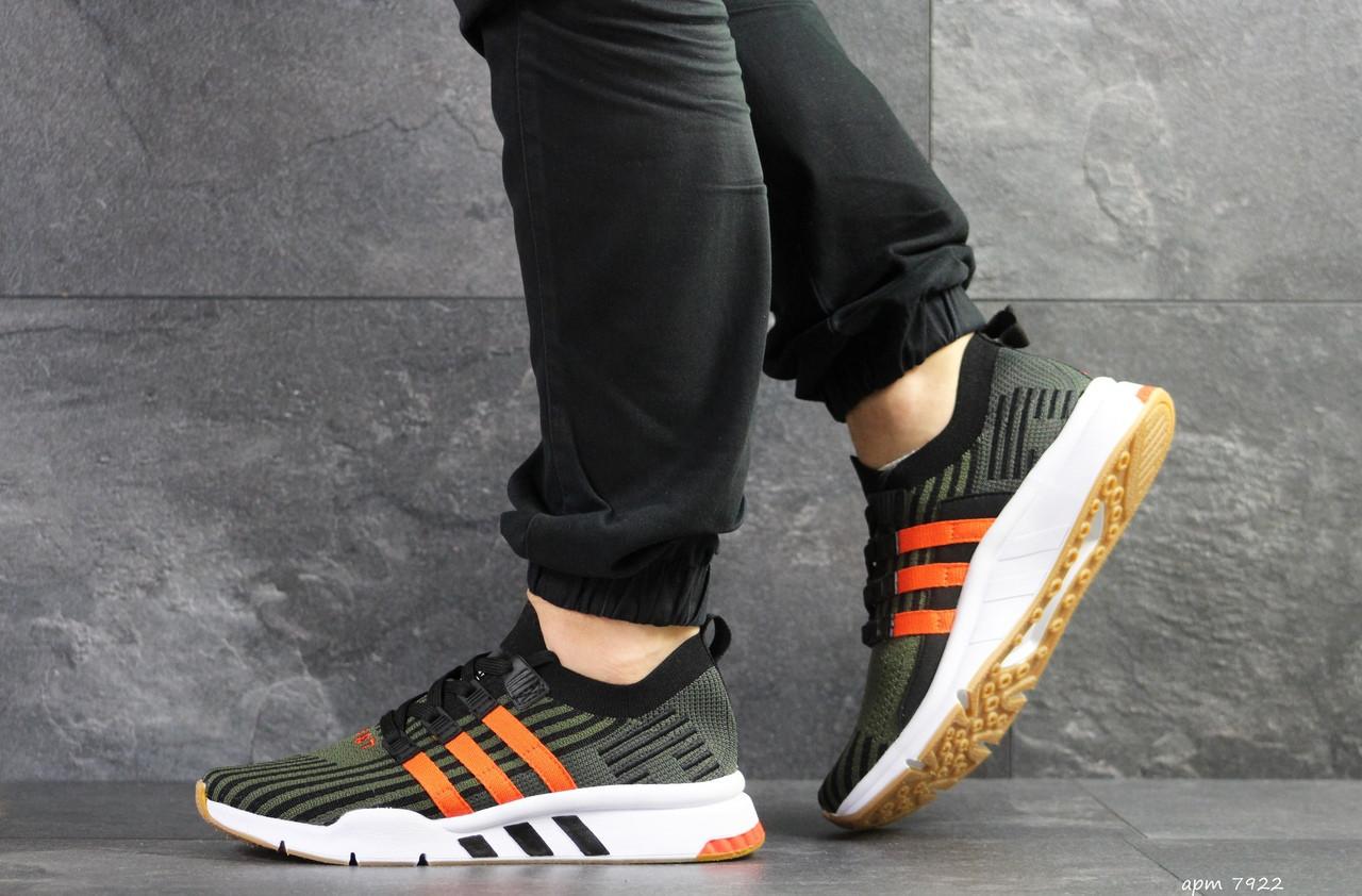 Кроссовки мужские Adidas Equipment adv 91/18,зеленые с оранжевым