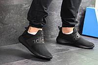 Мужские летние кроссовки Adidas,черные,сетка, фото 1