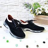 Кроссовки женские комбинированные на утолщенной подошве, цвет черный/пудра, фото 3