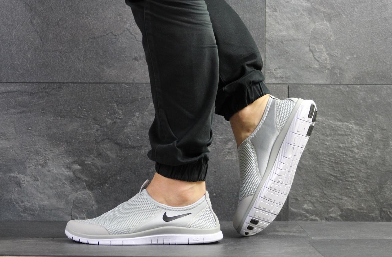 Летние кроссовки Nike Free Run 3.0,серые 45р
