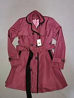 Бордовый плащ на тонкой подкладке для девочки до 7, 8, 9 лет, фото 1