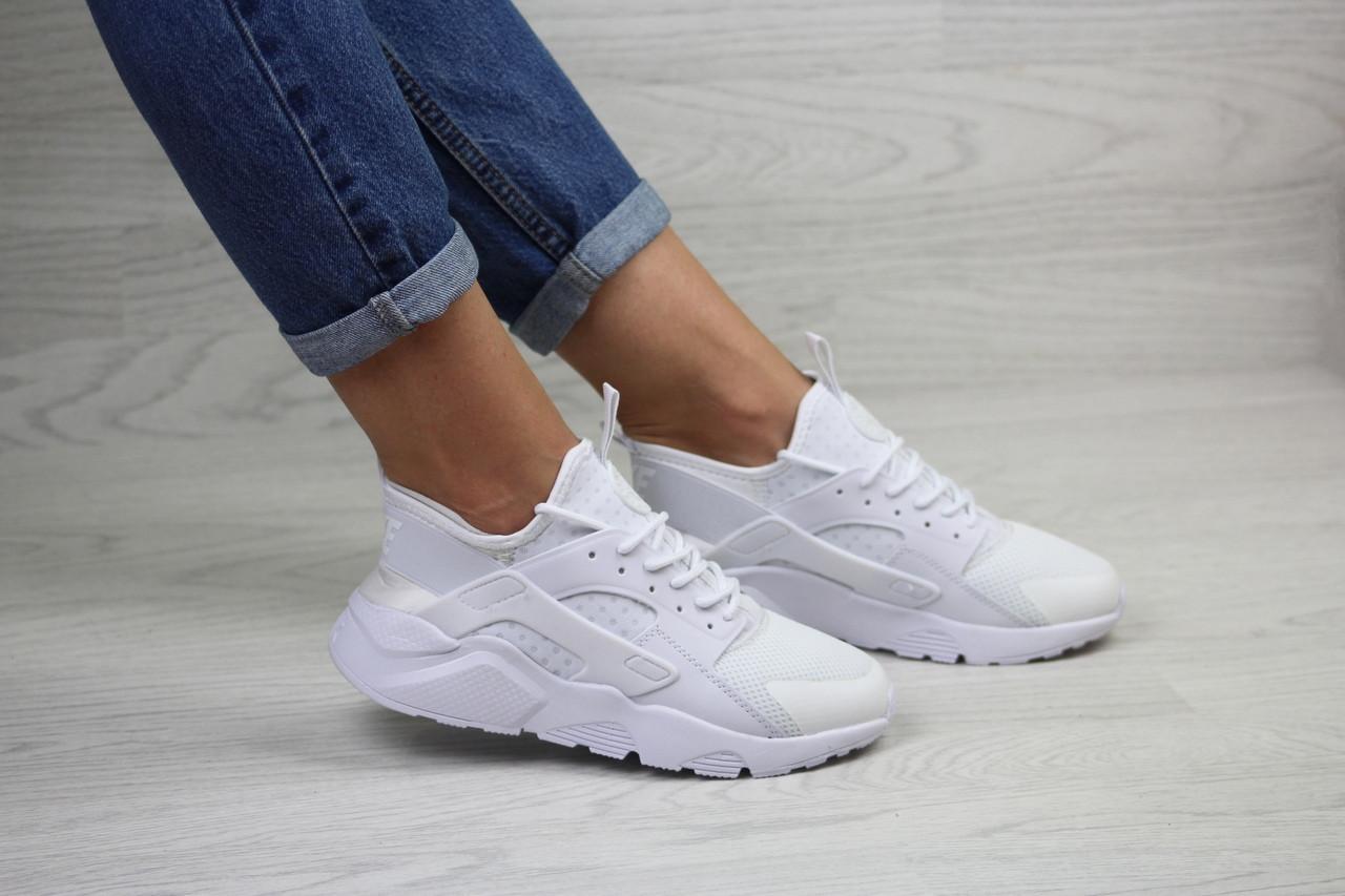 Женские белые кроссовки Nike Air Huarache,летние,сетка